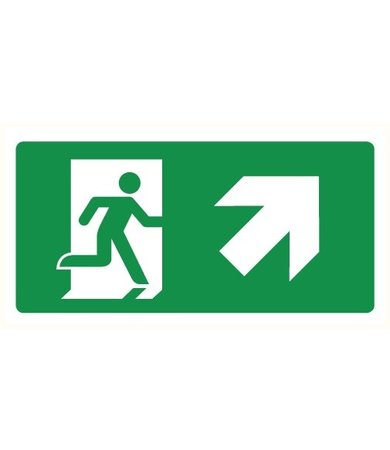 Pikt-o-Norm Pictogram emergency exit up right