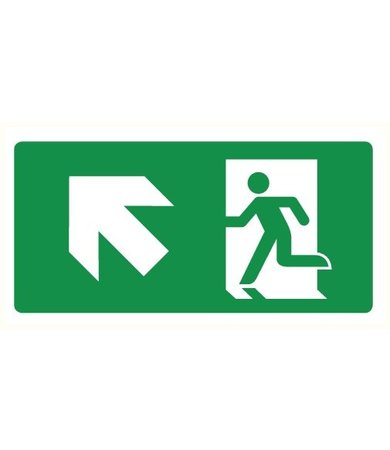 Pikt-o-Norm Pictogram emergency exit up left