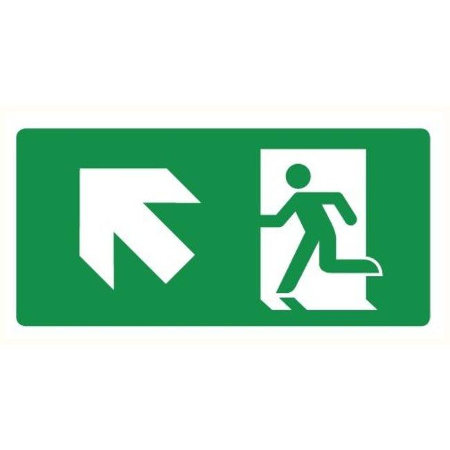 Pikt-o-Norm Pictogram emergency exit up left