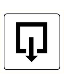 Pikt-o-Norm Pictogram exit inward turning
