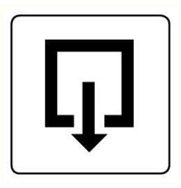 Pictogram exit inward turning