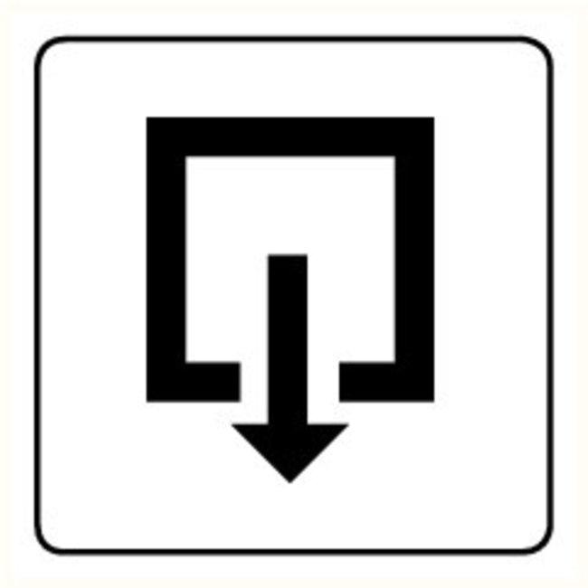 Pikt-o-Norm Pictogram exit inward turning