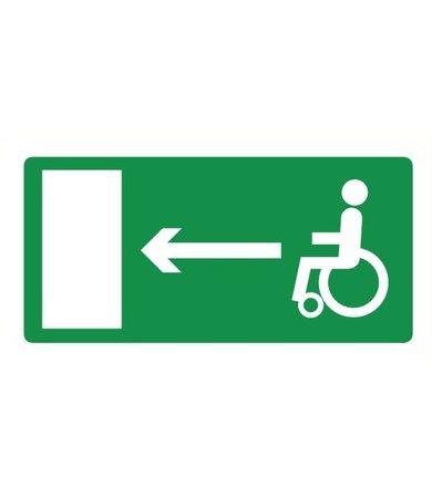 Pikt-o-Norm Pictogramme sortie de secours fauteuil roulant gauche
