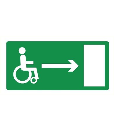 Pikt-o-Norm Pictogram emergency exit wheelchair right