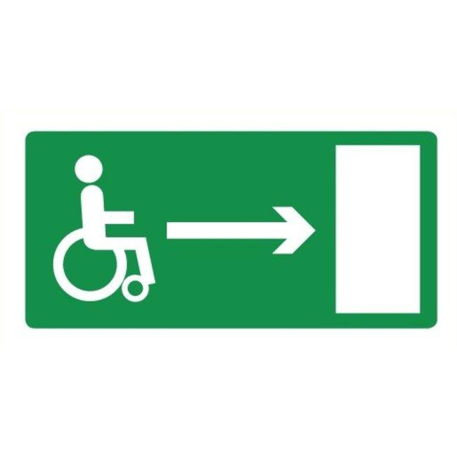 Pikt-o-Norm Pictogramme sortie de secours fauteuil roulant droite