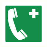 Pictogram telephone first aid