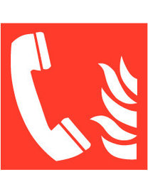 Pikt-o-Norm Pictogram telephone fire