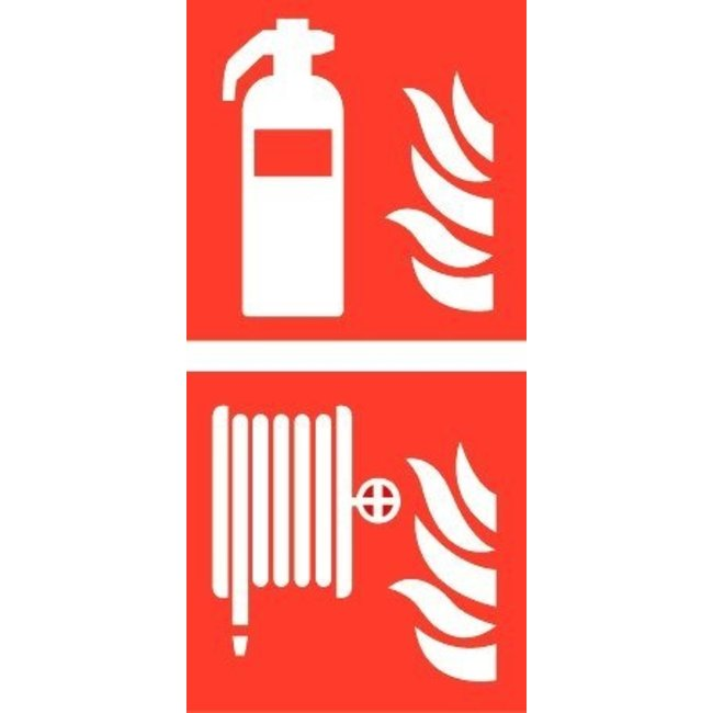 Pikt-o-Norm Pictogram combi fire extinguisher hose reel