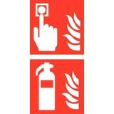 Pictogram combi brandmelder brandblusser