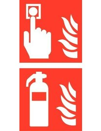 Pikt-o-Norm Pictogram combi fire alarm extinguisher