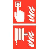 Pictogram combi fire alarm hose reel