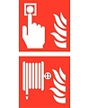 Pikt-o-Norm Pictogram combi fire alarm hose reel