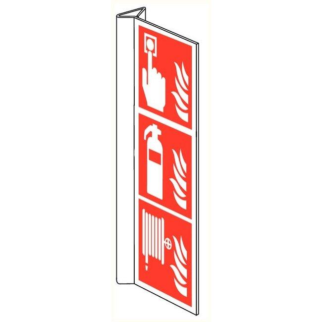 Pikt-o-Norm Pictogram combi fire alarm extinguisher hose reel