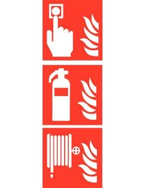 Pikt-o-Norm Pictogram combi fire alarm extinguisher hose reel