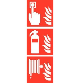 Pictogram combi fire alarm extinguisher hose reel