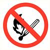 Pikt-o-Norm Pictogramme feu interdit