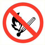 Pictogram fire prohibited