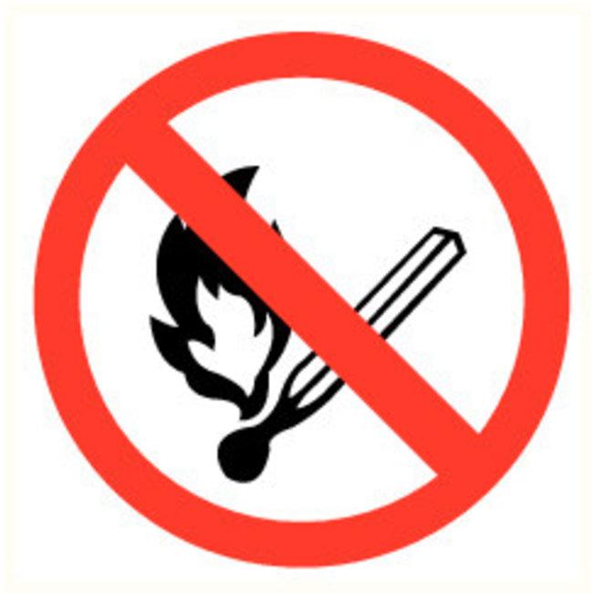 Pikt-o-Norm Pictogram verboden vuur te maken