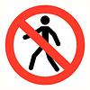 Pikt-o-Norm Pictogramme accès interdit aux personnnes