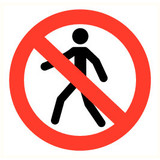 Pictogram persons prohibited