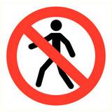 Pictogramme accès interdit aux personnnes
