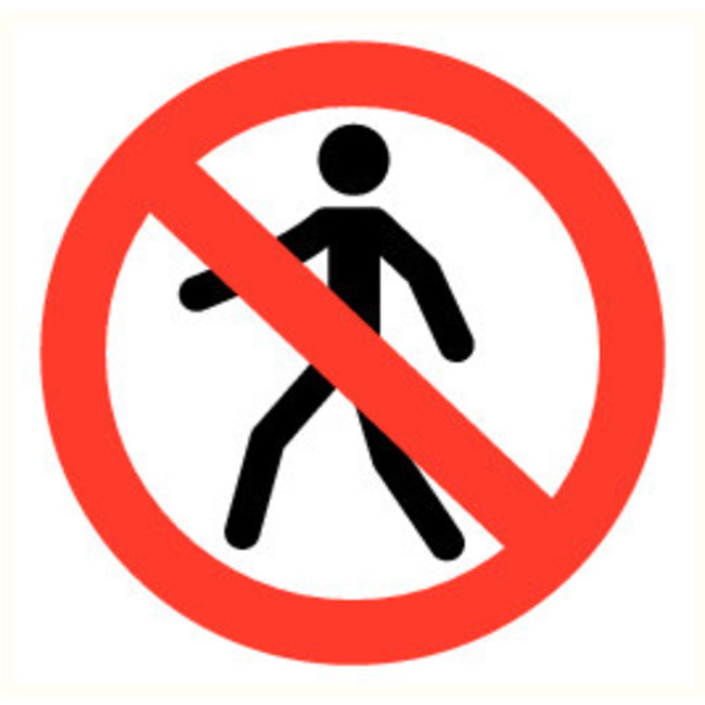 Pikt-o-Norm Pictogram persons prohibited
