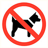 Pikt-o-Norm Pictogram verboden voor dieren