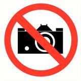 Pictogramme prise des photos interdit