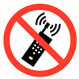 Pictogram cell phone prohibited