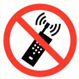 Pictogramme portable interdit