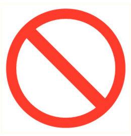 Pictogramme accès interdit