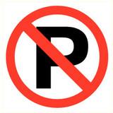 Pictogram parking prohibited