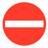 Pictogram one way only