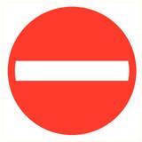 Pictogram verboden enkele richting