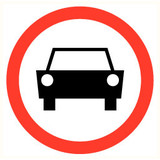 Pictogram vehicles prohibited
