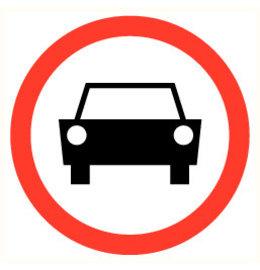 Pictogramme interdiction voiture