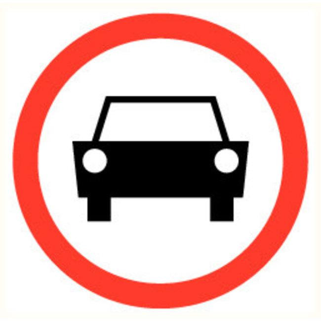 Pikt-o-Norm Pictogram verboden auto