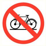 Pictogramme accès interdit aux vélos