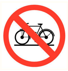Pictogram bicycles prohibited