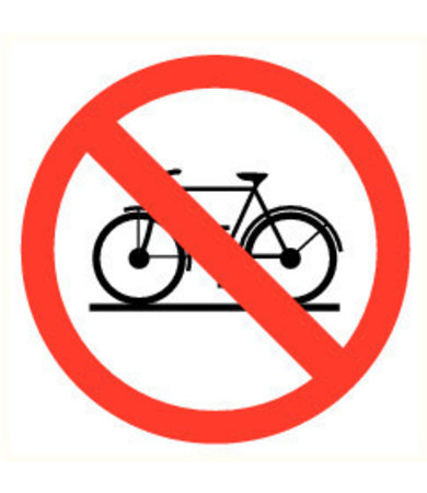 Pikt-o-Norm Pictogram bicycles prohibited
