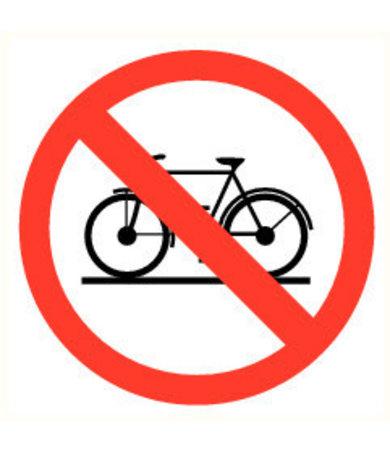 Pikt-o-Norm Pictogramme accès interdit aux vélos