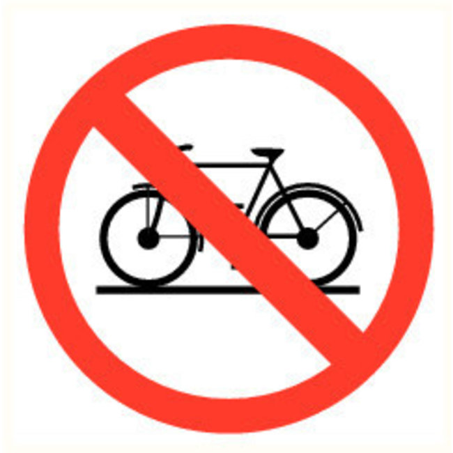 Pikt-o-Norm Pictogram verboden fiets