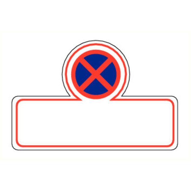 Pikt-o-Norm Pictogram verboden te parkeren met tekst
