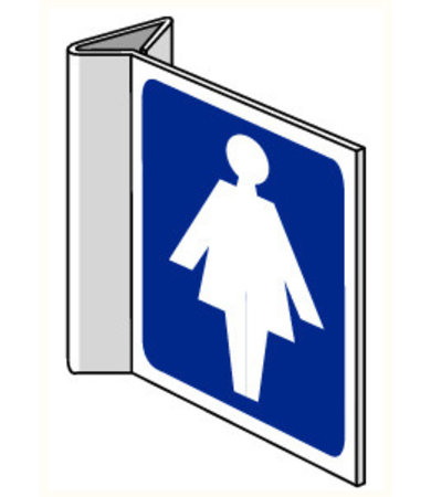 Pikt-o-Norm Pictogram aanwijzing WC dames