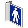 Pikt-o-Norm Pictogram aanwijzing WC heren