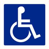 Pictogram aanwijzing WC personen met beperking