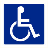 Pictogram indication toilets disabled persons