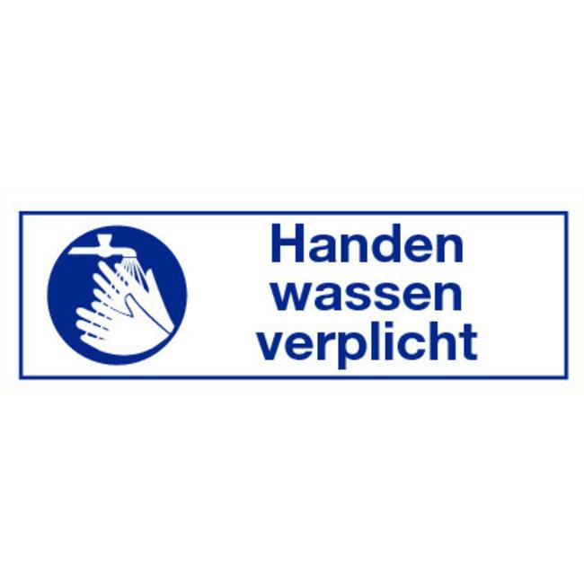 """Pikt-o-Norm Pictogramme indication texte """"handen wassen verplicht"""""""
