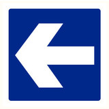 Pictogramme indication flèche bleu