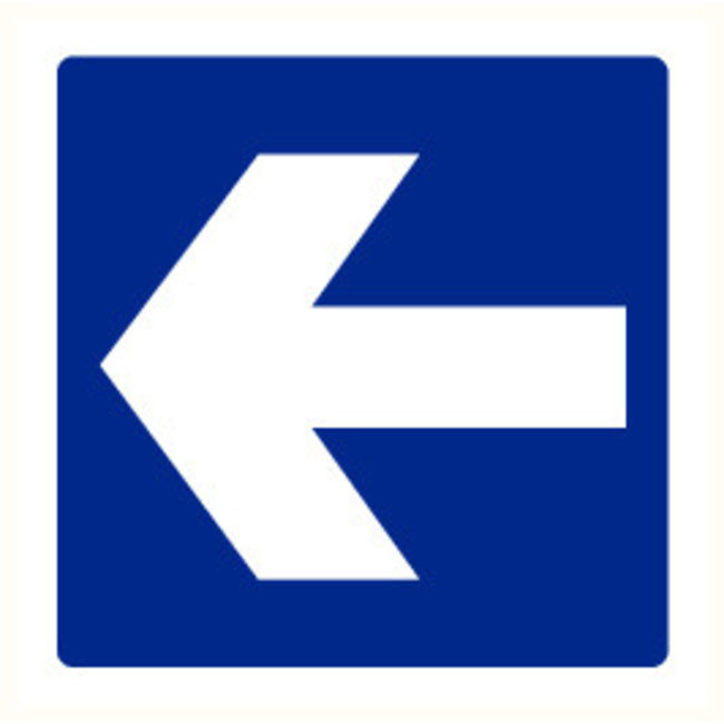 Pikt-o-Norm Pictogramme indication flèche bleu